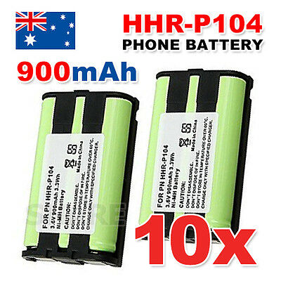 10X OZ Just For Panasonic HHR-P104 2X Cordless Phone Battery Ni-MH 3.6V 900mAh
