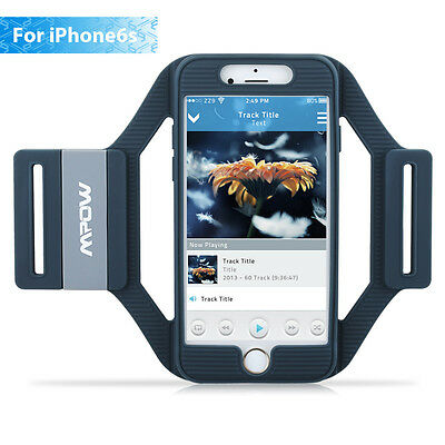Mpow Lightweight Sports Armband Silicone Case for iPhone 6s 6 Portable Running
