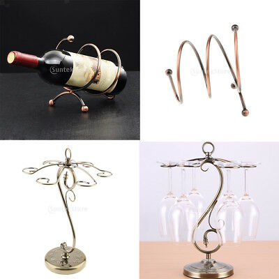 2PCS Red Wine Rack Bracket Champagne Bottle Glass Cup Hanging Rack Holder