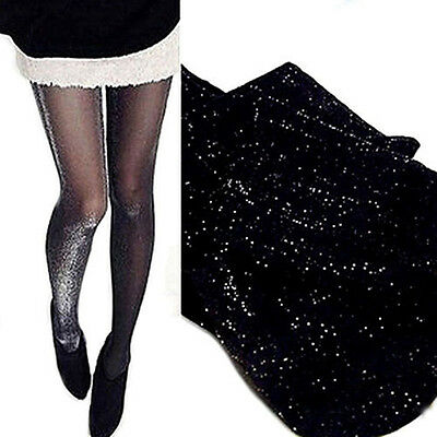 Women's Glossy Shiny Sheer Pantyhose Shimmer Tights Stockings Dance Socks