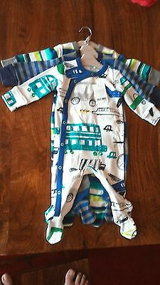 Next baby brand new boys 3 set gorgeous body suits - 3 to 6 months