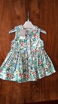 Brand new with tags girls gorgeous baby girls summer dress 6 to 9 months