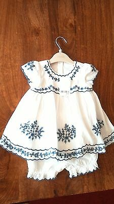 Brand new with tags Next baby 2 piece dress and trouser set for baby girl 3 to 6