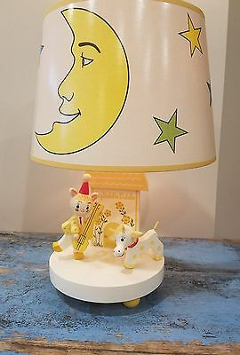 Vintage Nursery  Lamp Night light lamp baby infant gift Cat Fiddle Original box