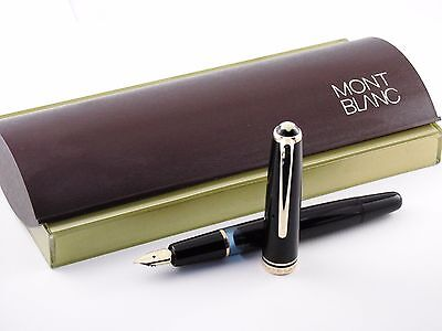 "Vintage ""Montblanc 252"" Fountain Pen-Black Piston Filler-14K Nib-Germany 1950s"