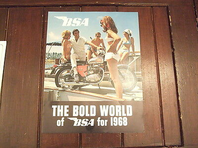 BSA Sales Brochure B44 A50 A65 1968 NOS