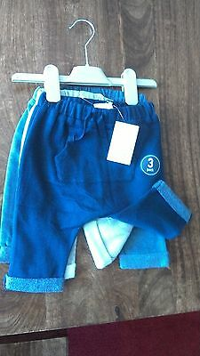 NEXT Brand new with tags 3 pack baby boys trousers 3 to 6 months