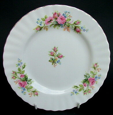 Royal Albert Moss Rose 1st Quality Lg Side or Bread Plates 18cm - Look in VGC