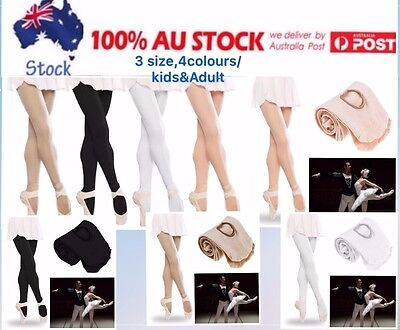 Oz Footed Convertible Ballet Dance Tights Stockings Pantyhose Children&adult