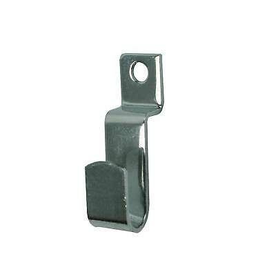 Slatwall Picture Hook in Chrome Retail Shop Display Fitting Prong Pictures (L1)