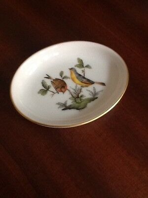 Herend Porcelain , Rothschild Birds Pin Tray
