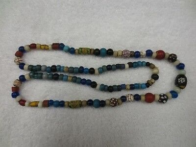 """36"""" Strand Of Rare Columbia River Trade Beads Ex Baker Collection"""