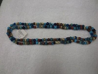 """Two 25"""" Strands Rare Columbia River Trade Beads Ex Baker Collection"""