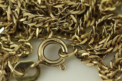 "Fine Estate Jewelry 10KT Solid Yellow Gold 24"" Long Twist Link Necklace Set 4.3G"