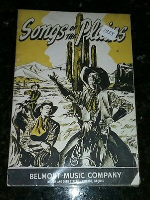 1938 Belmont Music Company songbook songs of the plains