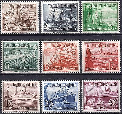 Germany 1937 Winter Relief Set, SG 639 - 647, Mint Never Hinged