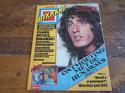 Hitkrant 1977: Who/Runaways/Little River Band/Queen/Donna Summer/Abba/Champagne