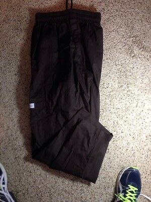 Chef Works - Chocolate Brown Elastic Waist Utility Pants (M) Ked