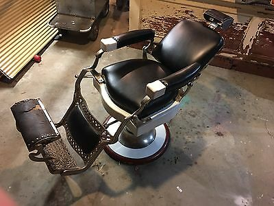 Early Koken Barber Chair includes adjustable headrest. Hydraulics work!