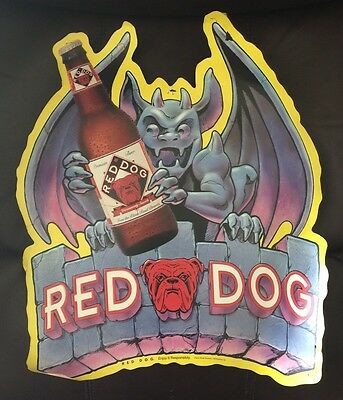 RARE Vintage Red Dog Beer Halloween Poster 80's