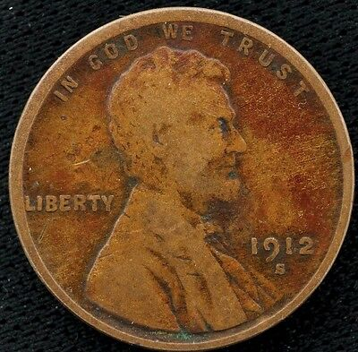 1912 S Lincoln Wheat Cent Penny 1C (2)