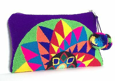 Original Medium Wayuu Clutch Bag Free Bracelet