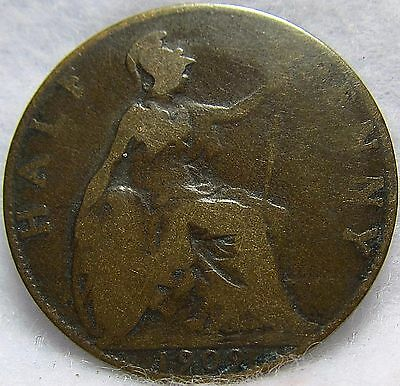 1909 GREAT BRITAIN 1/2 PENNY ~ Fair Condition ~ KM# 793.2