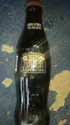 Coke Classic from Athens to Atlanta 100 Years of Olympic Tradition Glass Bottle