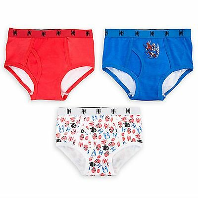 New Disney Boy 3 Pack Underwear Briefs Marvel Spiderman NWT Size 2 5 6 7 8 Year