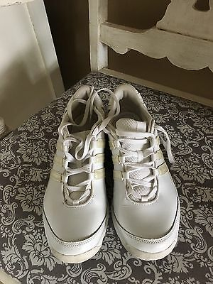 Women's Addidas Leather Cheer Sneakers 6.5
