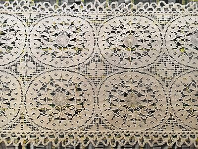Antique Vintage Lace Table Runner - Intricate - Beautiful - 34 X 8.5 Inches