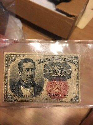 1874 U.S. Currency Fractional 10 Cent Note
