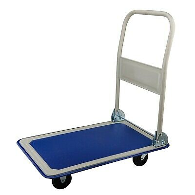 Steel Core 330 lbs New Platform Cart Foldable Folding Push Cart Dolly Hand Truck