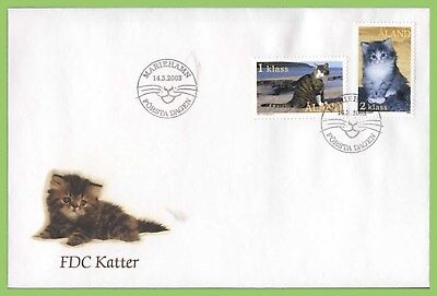 Aland 2003 Cats set on First Day Cover