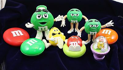 Mixed Lot M&M Mars Collectibles 9 piece Candy Dispensers Characters and More