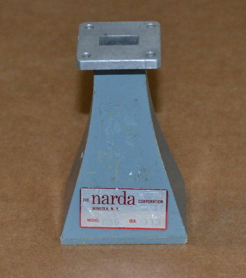 Narda 639 Standard Gain Waveguide Horn Antenna WR62 12.4-18GHz, Great Shape