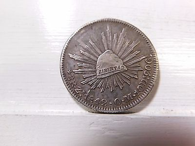 1842 Republic of Mexico Silver Dollar Coin Good details. Check pics for details