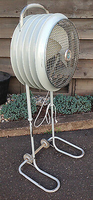 """Westinghouse Space Age Mobilaire Industrial Floor Fan-Adjustable Up To 55"""" Tall"""