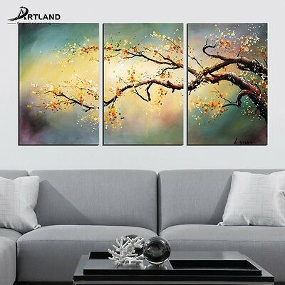 Oversized Framed Canvas Painting Hand-painted Wall Art for Home Decor 36x72 inch