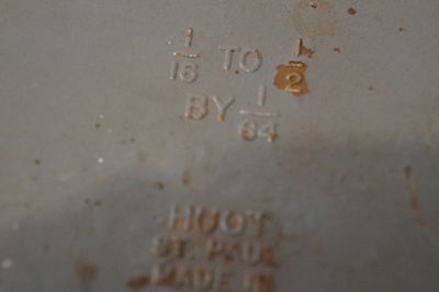 Nice Used Huot Drill Index 1/16 - 1/2 By 1/64