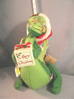 """Annalee Dolls 15"""" Christmas Dragon - 7418 1990- HANG TAG -EXCELLENT CONDITION"""