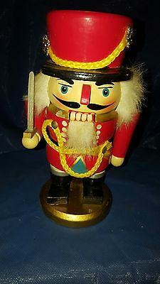 VINTAGE Wooden NUTCRACKER King THE Military MAN 7 INCH