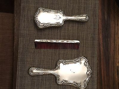 Gorham Sterling Silver Dresser Set. Mirror,Brush and Comb Included.