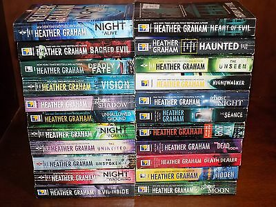 Lot of 22 Heather Graham books PB Paranormal, Suspense