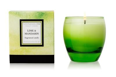 Stoneglow Candle Art Collection Lime and Mandarin