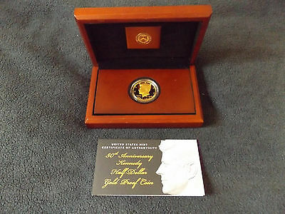 2014 US Mint 50th Anniversary Kennedy Gold proof coin half dollar