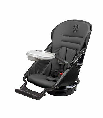 Orbit Baby G3 Stroller Seat 360 degree views rotate dual cup holders Built in