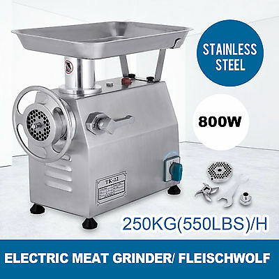250KG/H Commercial Meat Grinder Stainless Steel l Industrial Cutting Mincer