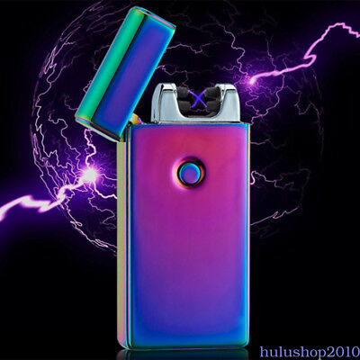 Lighter Rechargeable Plasma Windproof USB Electric Flameless Dual Cigarette QN6Y