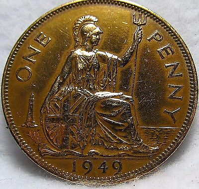 1949 GREAT BRITAIN PENNY ~ Excellent Condition ~ KM# 869